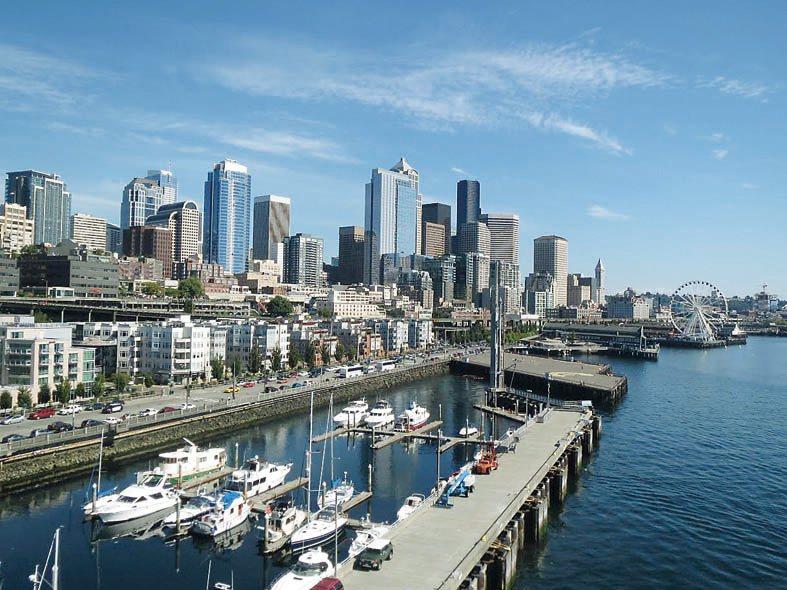西雅圖居住及工作條件優異,吸引許多人遷居至此。(記者王又春/攝影)
