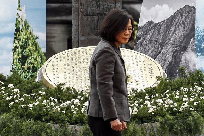 圖為蔡英文總統出席二二八事件中樞紀念儀式。 圖/歐新社
