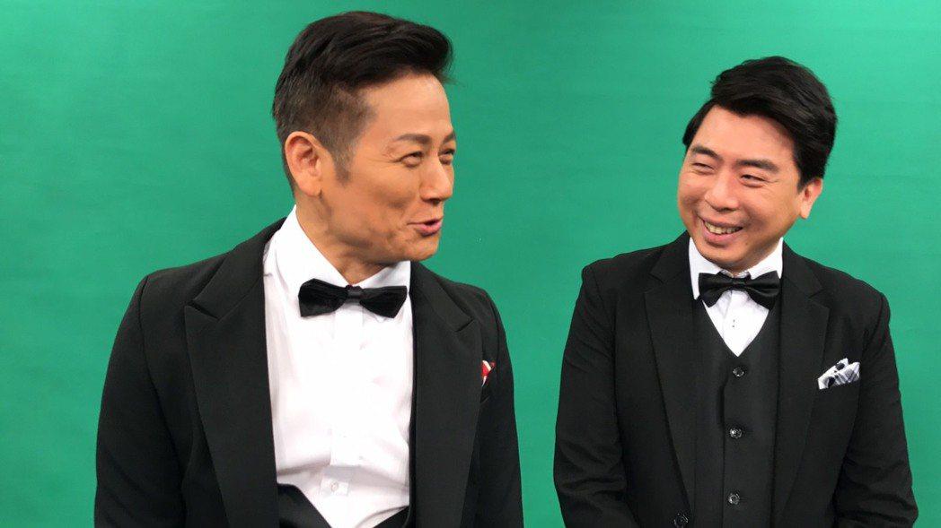 徐乃麟(左)和梁赫群妙語如珠。記者葉君遠/攝影