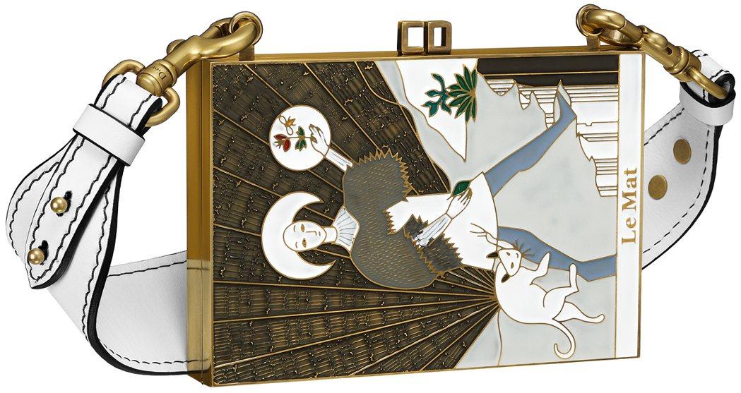 微風獨家The Mat塔羅牌圖騰琺瑯材質手拿包,售價260,000元。圖/Dio...