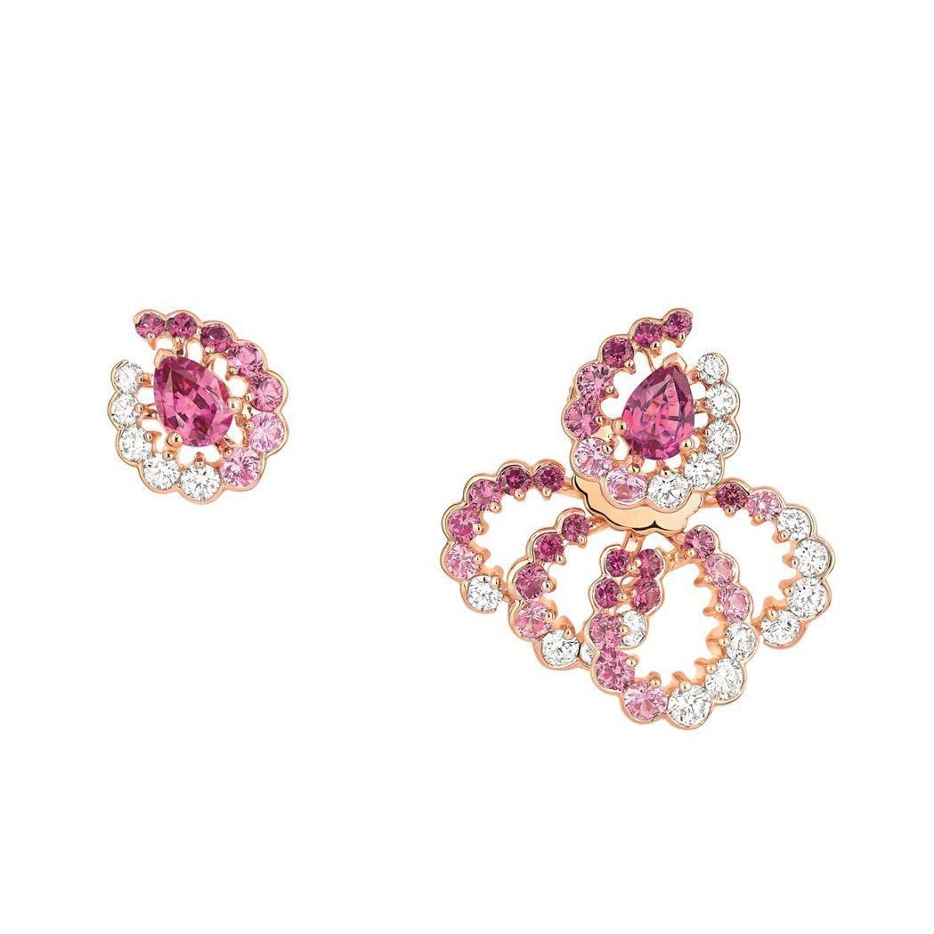 微風獨家Archi Dior粉紅剛玉鑽石耳環,售價730,000元。圖/Dior...