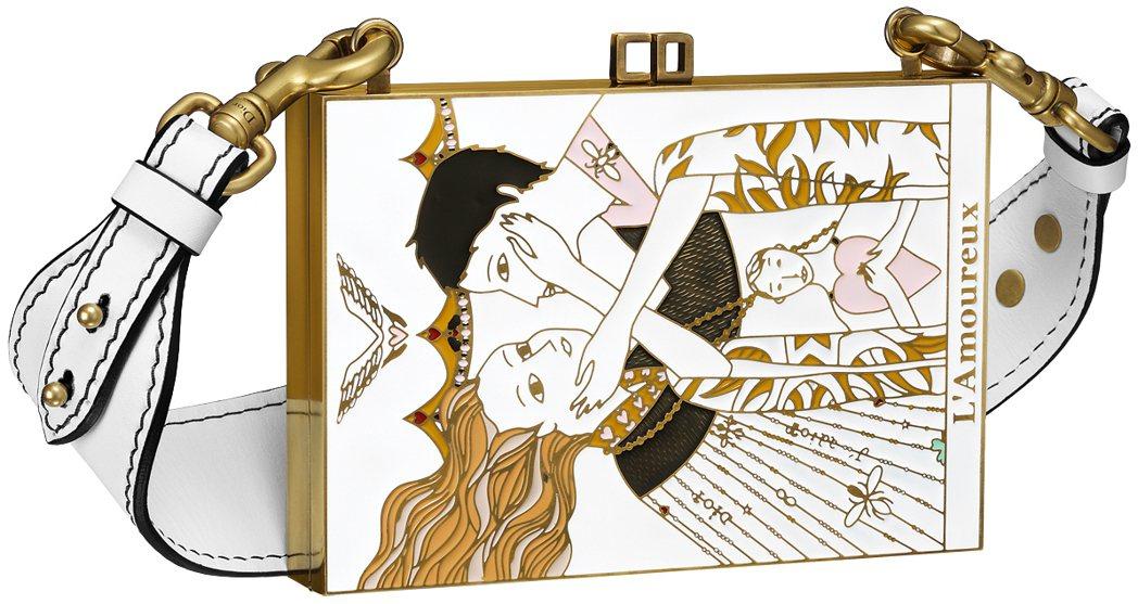 微風獨家The Lover塔羅牌圖騰琺瑯材質手拿包,售價260,000元。圖/D...