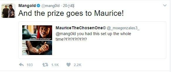 詹姆斯曼高德大讚網友mauricethechosenone的見解。圖/取自於推特