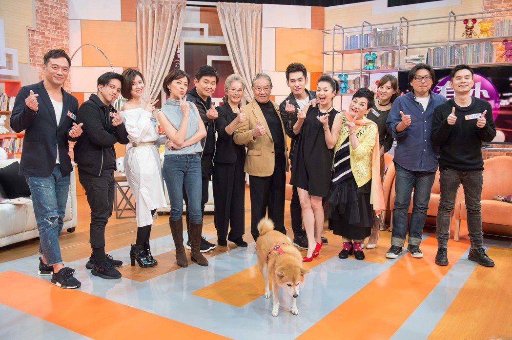 「酸甜之味」劇組演員上「小燕有約」宣傳。圖/TVBS提供