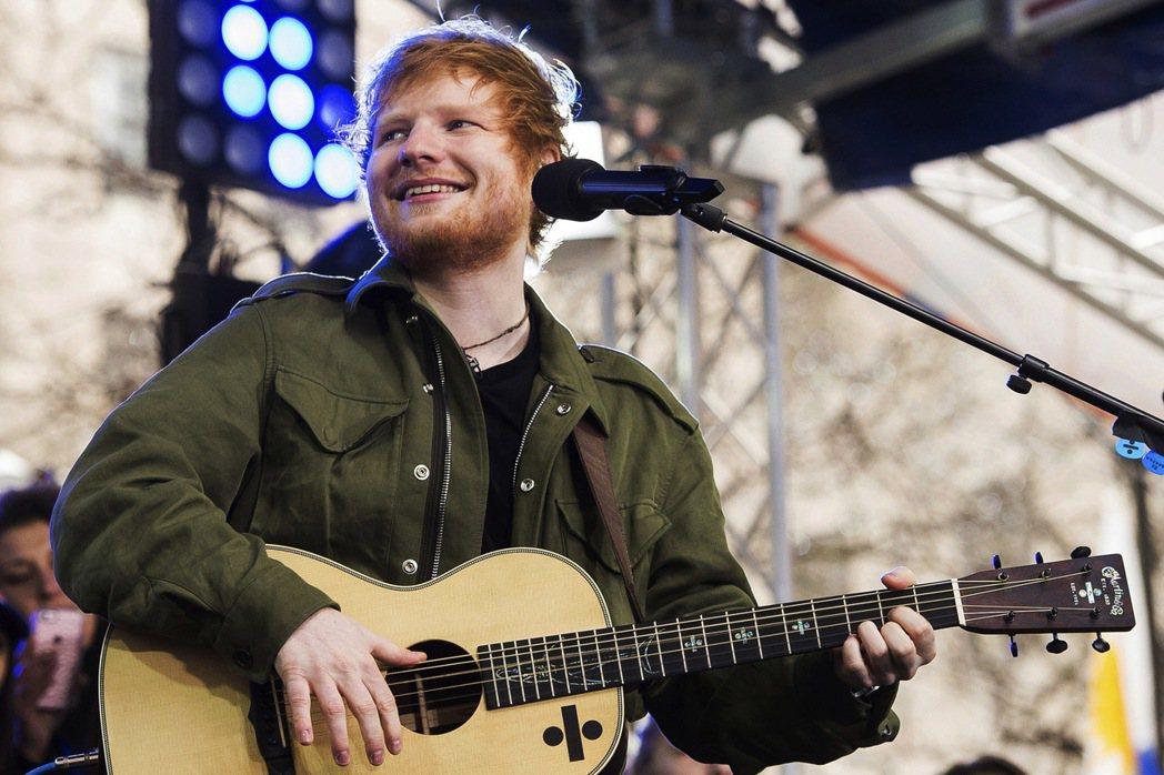 英國歌手紅髮艾德(Ed Sheeran)。 美聯社