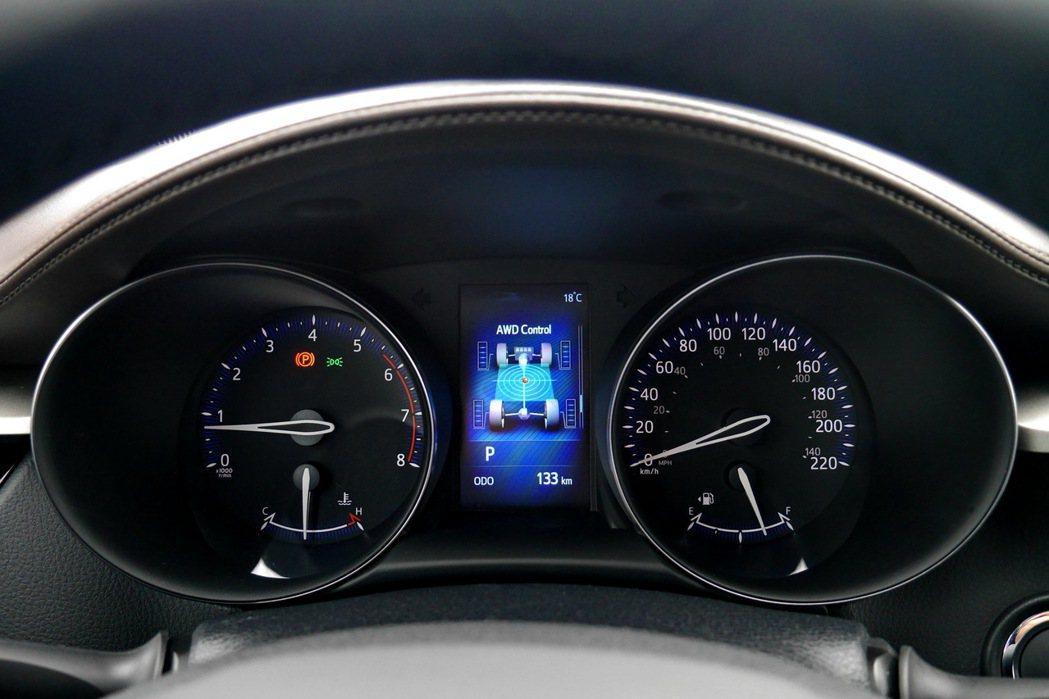 雙環式自發光儀表板及4.2吋TFT全彩MID多功能資訊顯示幕。 記者陳威任/攝影