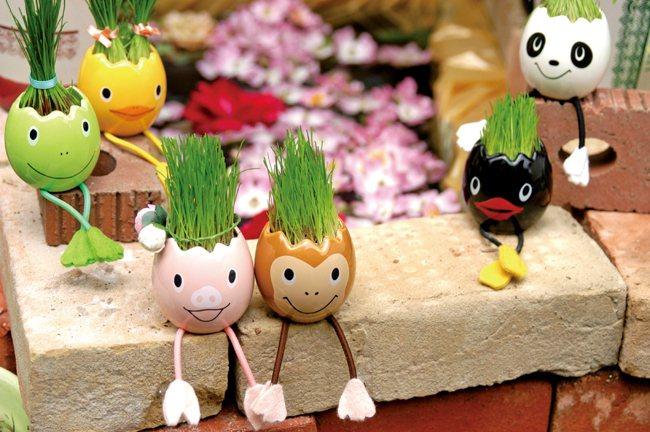 Egg Animal動物蛋髮型盆栽,售價490元。