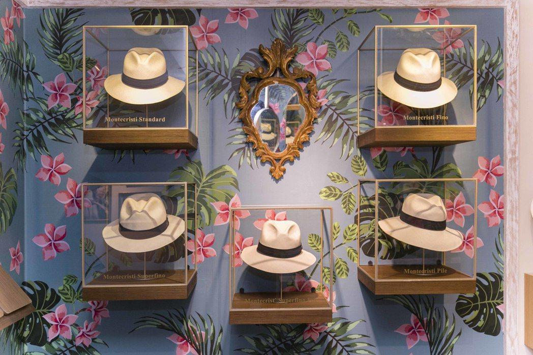 巴拿馬帽Ecua-Andino Hats來台,要價最高可達20萬元。圖/河馬時尚...