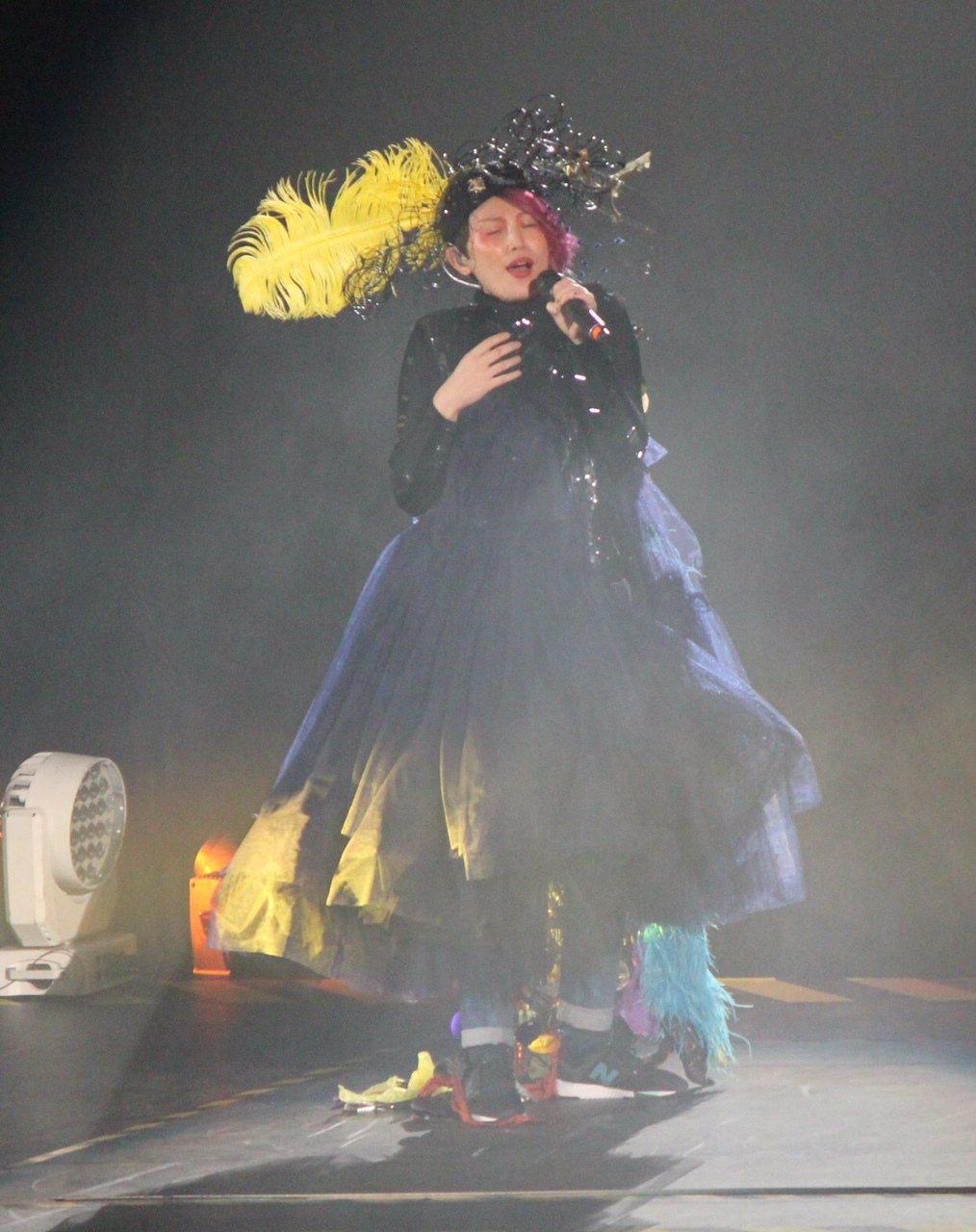 魏如萱在高雄巨蛋開唱。圖/大大娛樂提供