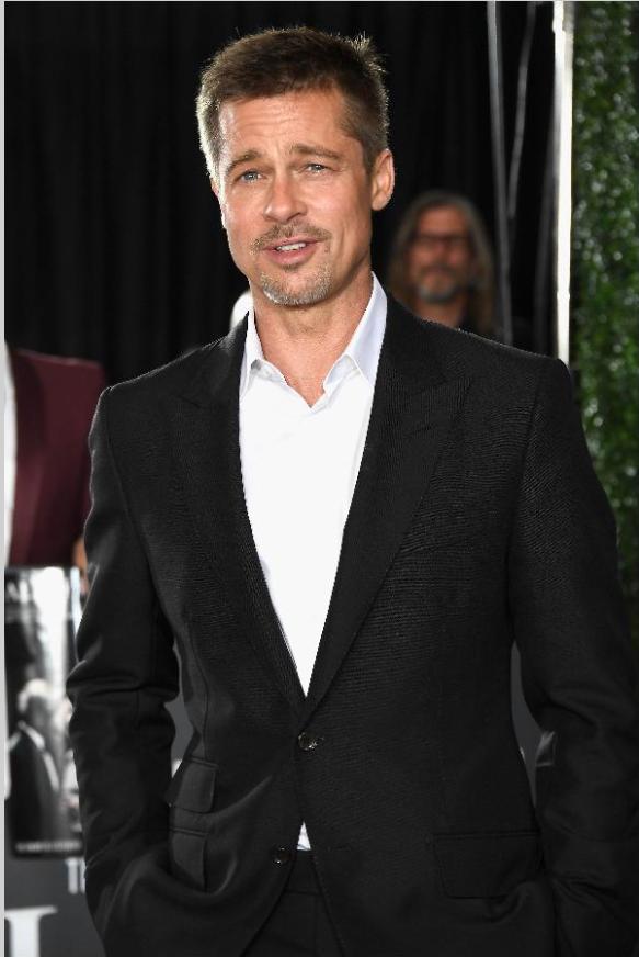 布萊德彼特再度成為好萊塢搶手的黃金單身漢。圖/法新社資料照片