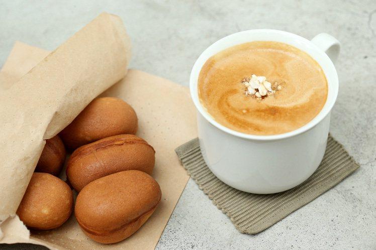「旺來特調那堤」,以濃縮咖啡結合麵茶牛奶,最後放上爆米香,售價120元。「旺來鷄...