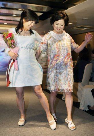 吳淡如(左)透過中醫調理,讓當年45歲的她如願懷孕。 圖/本報資料照片