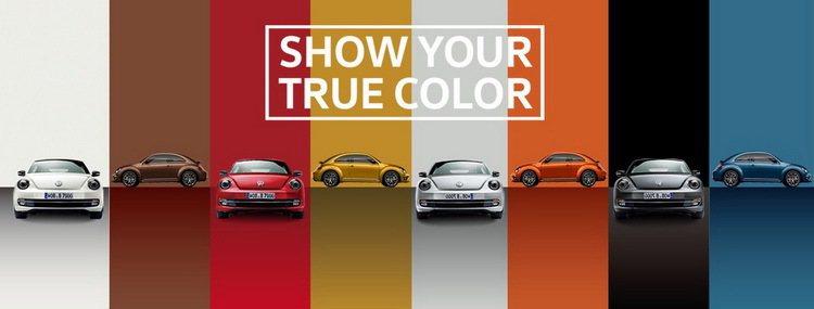 台灣福斯汽車邀消費者近距離感受Beetle之美型風采。 圖/台灣福斯提供