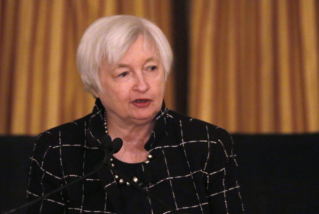 Fed調升政策利率,代表Fed看好未來經濟。圖為Fed主席葉倫。 (美聯社資料照...