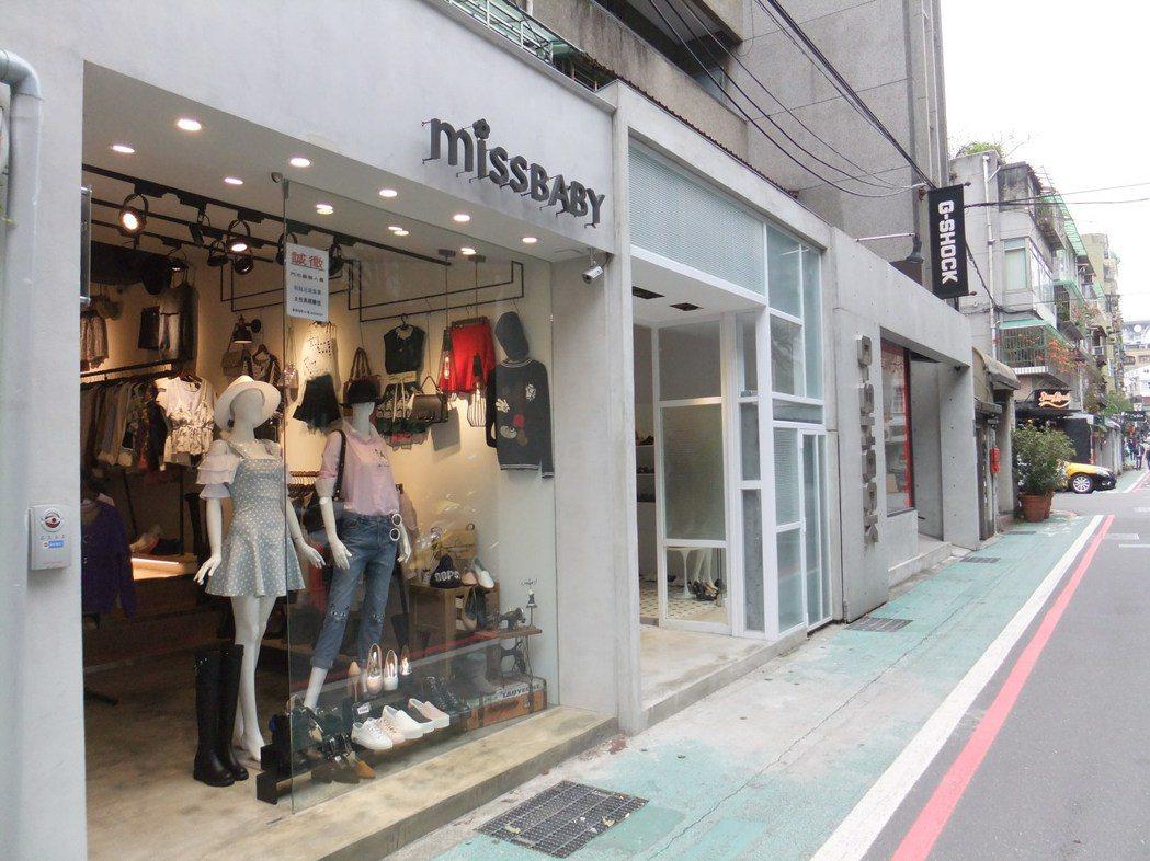 敦化南路一段161巷網拍業者群聚開店,形成網拍一條街。記者游智文/攝影
