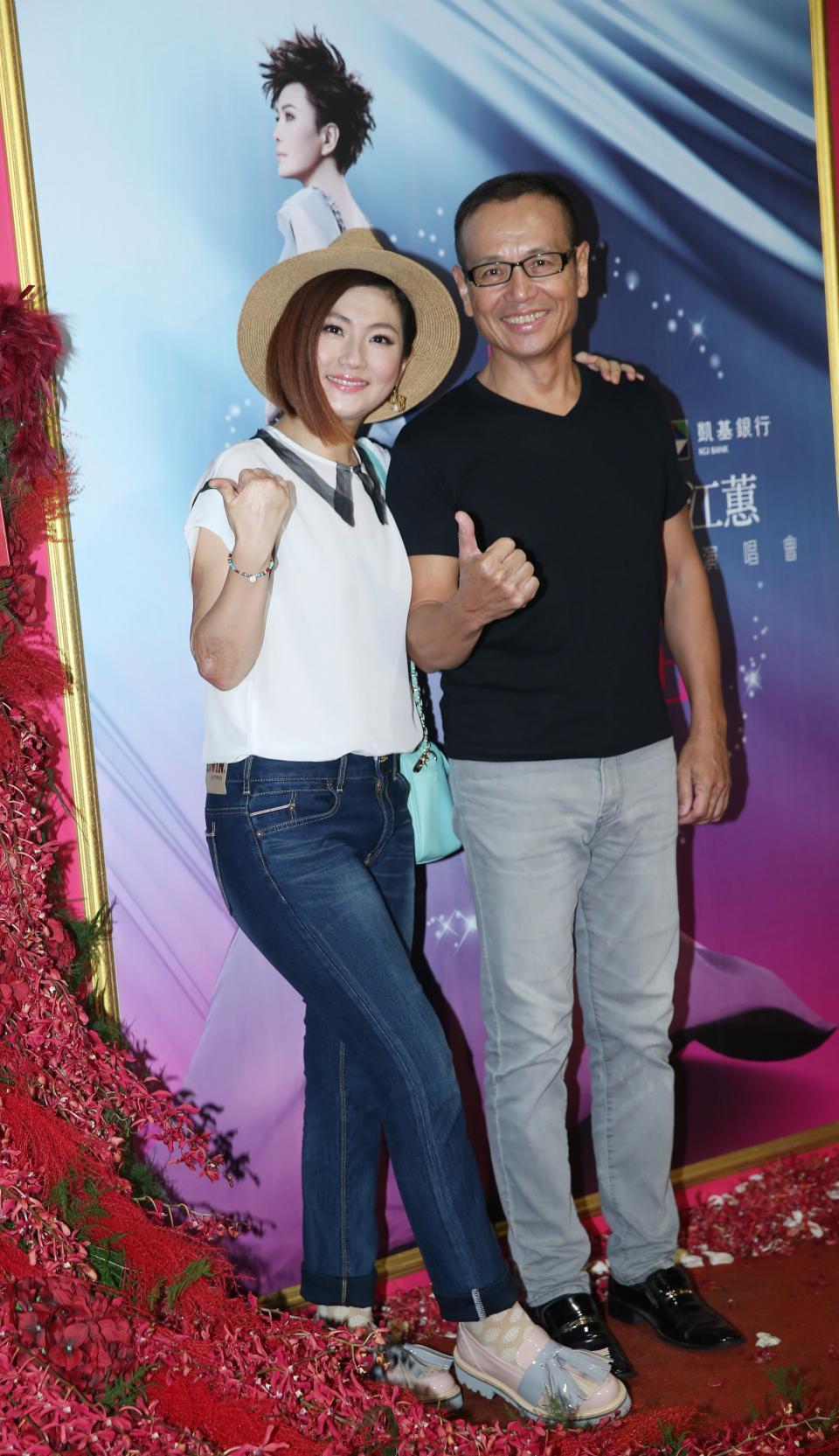 Selina(左)及任爸。本報系資料照 記者陳瑞源/攝影