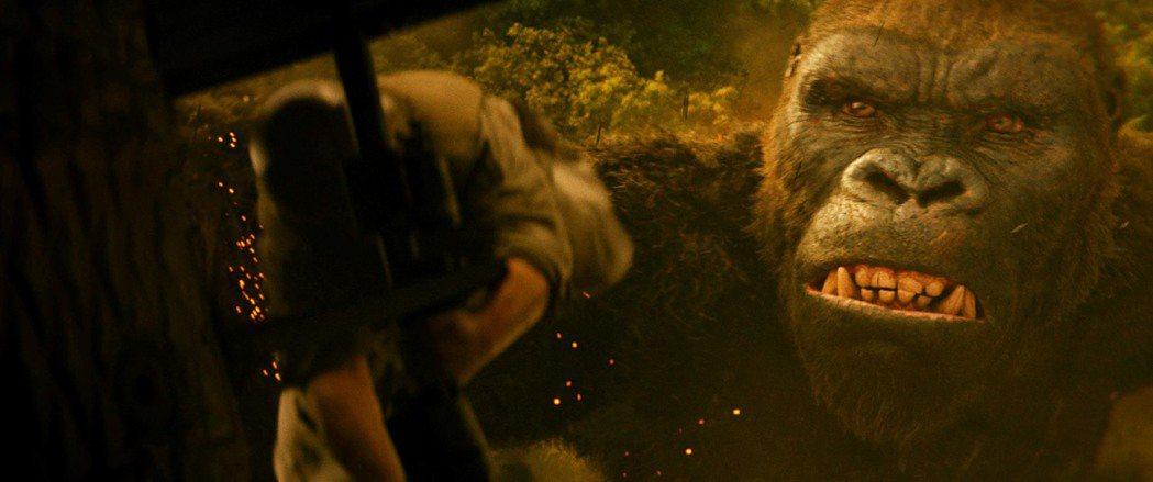 「金剛:骷髏島」劇照。圖/華納兄弟影業提供