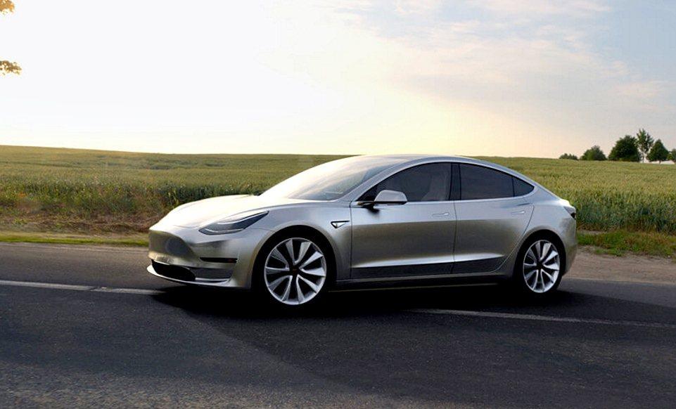 Model 3預計會在2018年於國內發表。 Tesla提供