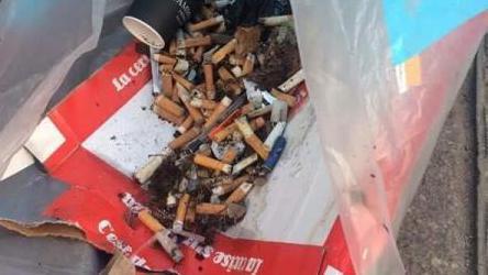巴黎街頭每天總能清出一堆菸蒂。 取自green bird網站
