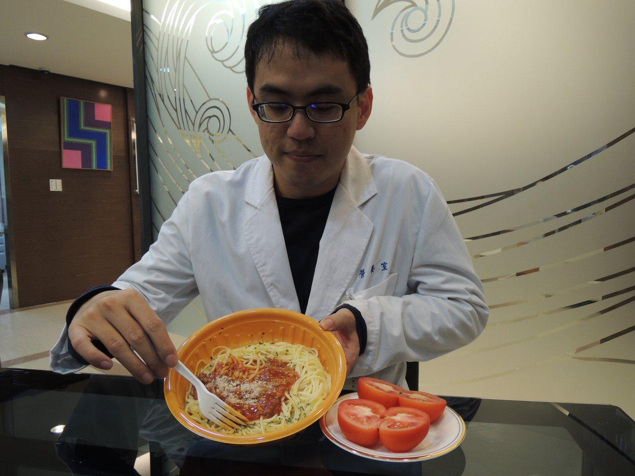 蕃茄中的茄紅素可以抗癌,不過加油加熱才能有效釋放出茄紅素,所以蕃茄義大利麵也是攝...