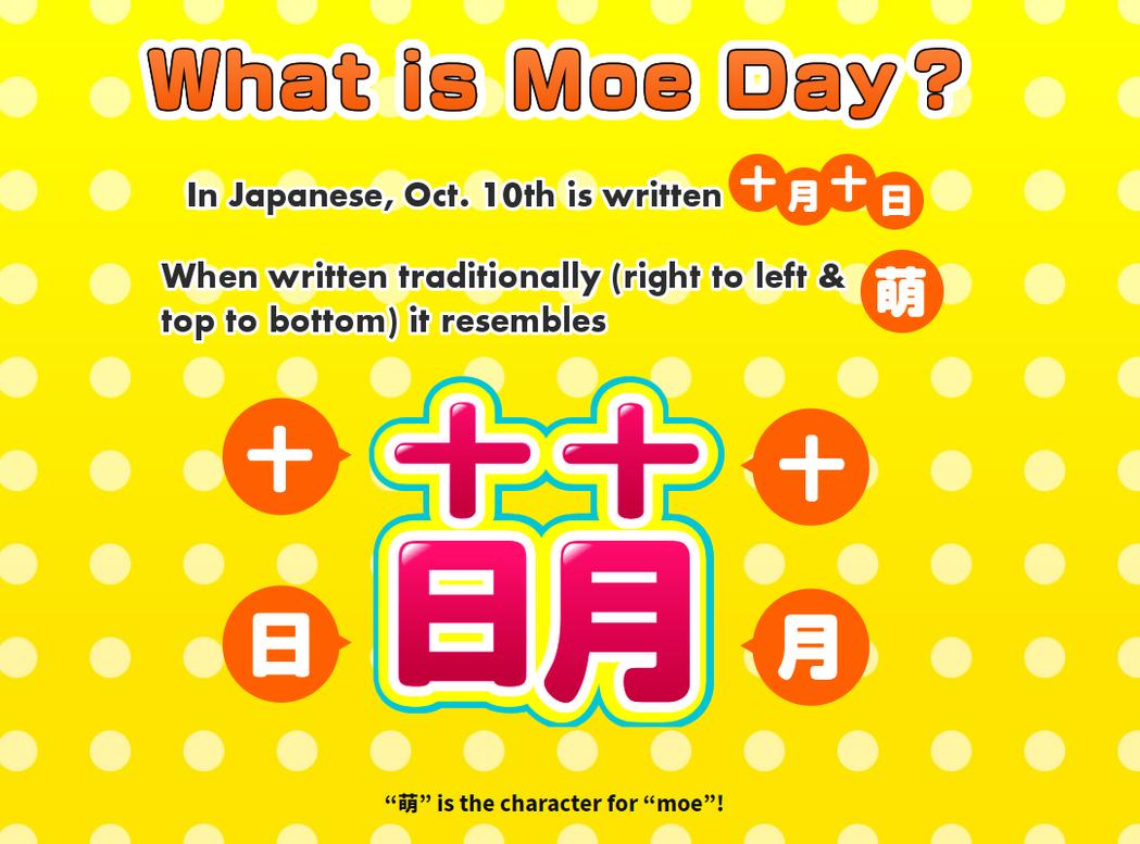 10月10日是日本的萌之日,把「十月十日」合起來就是「萌」字。 圖/取自「十月十...