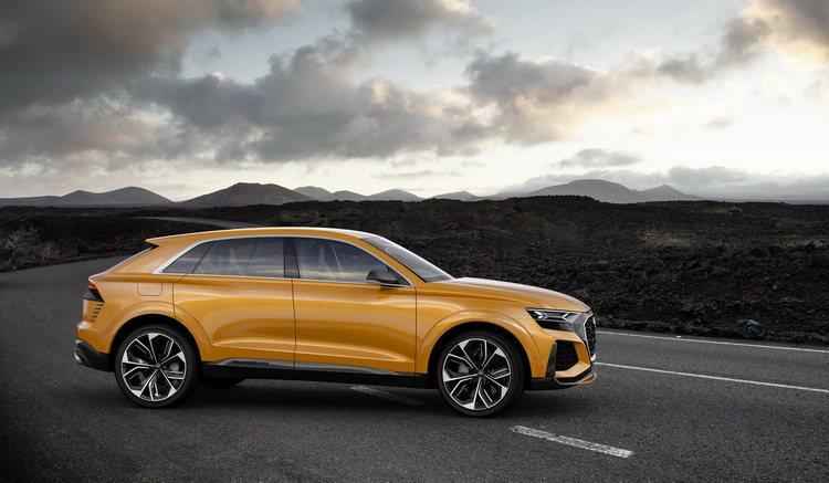 全新Audi Q8 Sport概念車整體設計理念結合濃厚的運動感和豪華感,傳達了Audi新世代運動風格的家族面貌。 圖/台灣奧迪提供