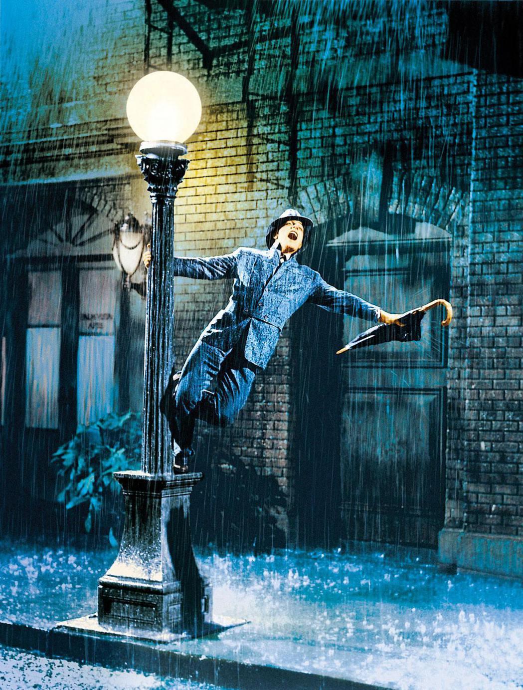 「萬花嬉春」金凱利雨中歌舞畫面已成經典。圖/金馬奇幻影展提供