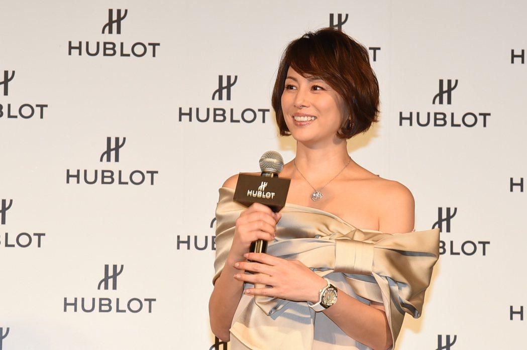 米倉涼子出席宇舶寵愛女性計畫頒獎典禮。圖/HUBLOT提供