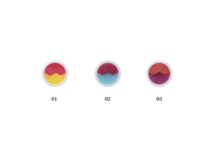 限量霓海映夏眼唇頰彩蕊(共3色),各450元。圖/Anna Sui提供