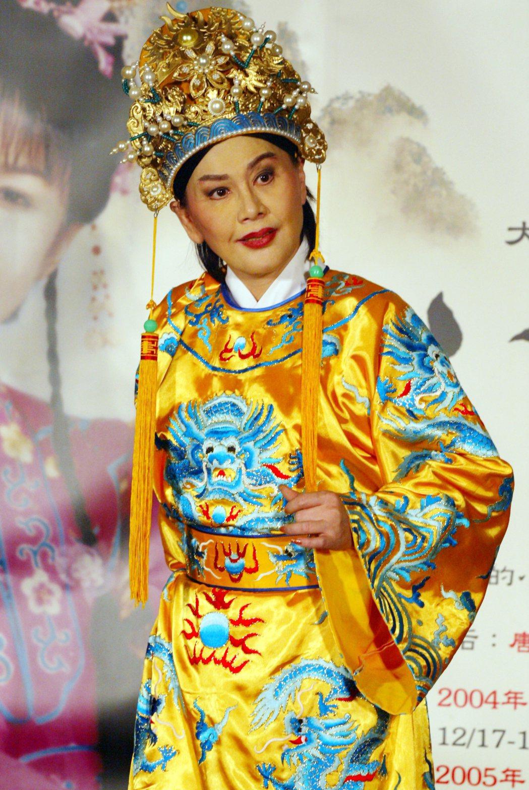 陳麗麗曾在江山美人黃梅調音樂劇中飾演正德皇。圖/本報資料照