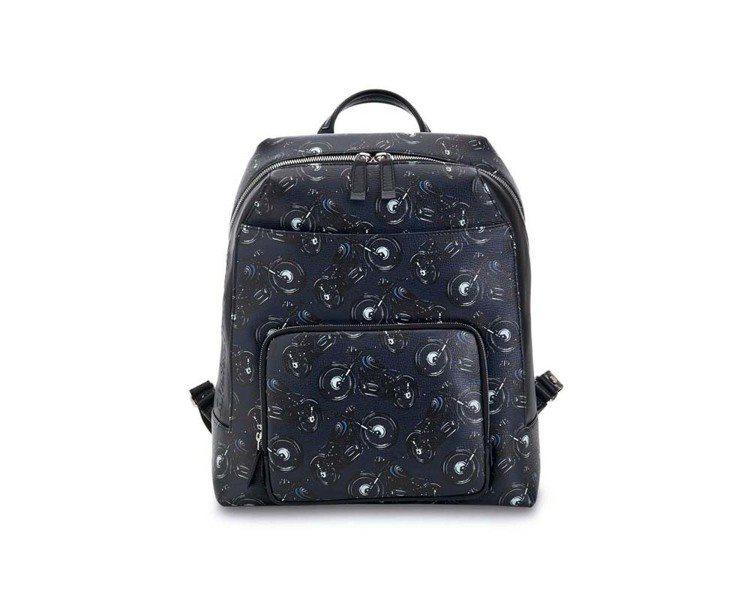 CAPSULE NOW深藍色造型牛皮後背包,58,900元。圖/Ferragam...