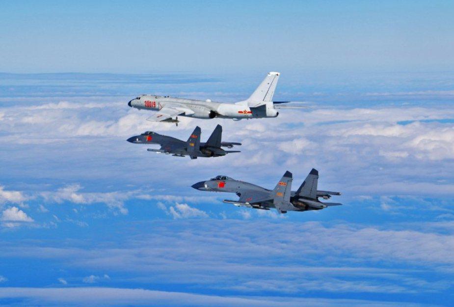 美陸開戰機率大嗎?圖為大陸軍機。 圖/取自中共空軍發布微博