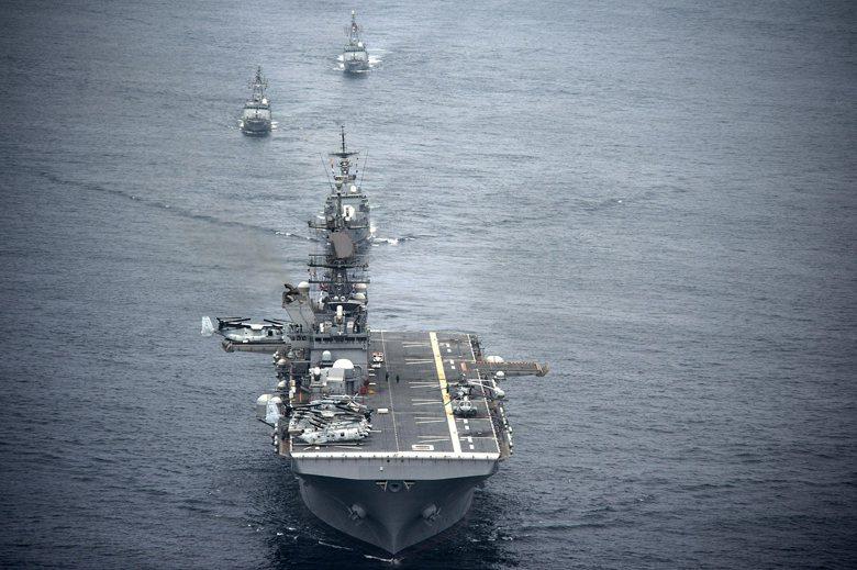 圖為美利堅號兩棲突擊艦(LHA 6)。 圖/取自美國國防部