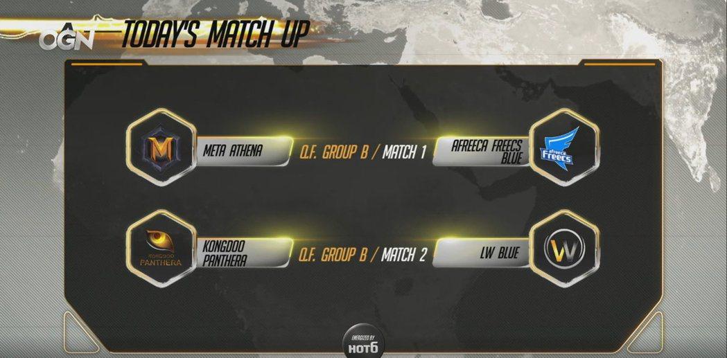 APEX八強B組的四支戰隊已於昨日展開首輪的交鋒。 圖/截自賽事直播