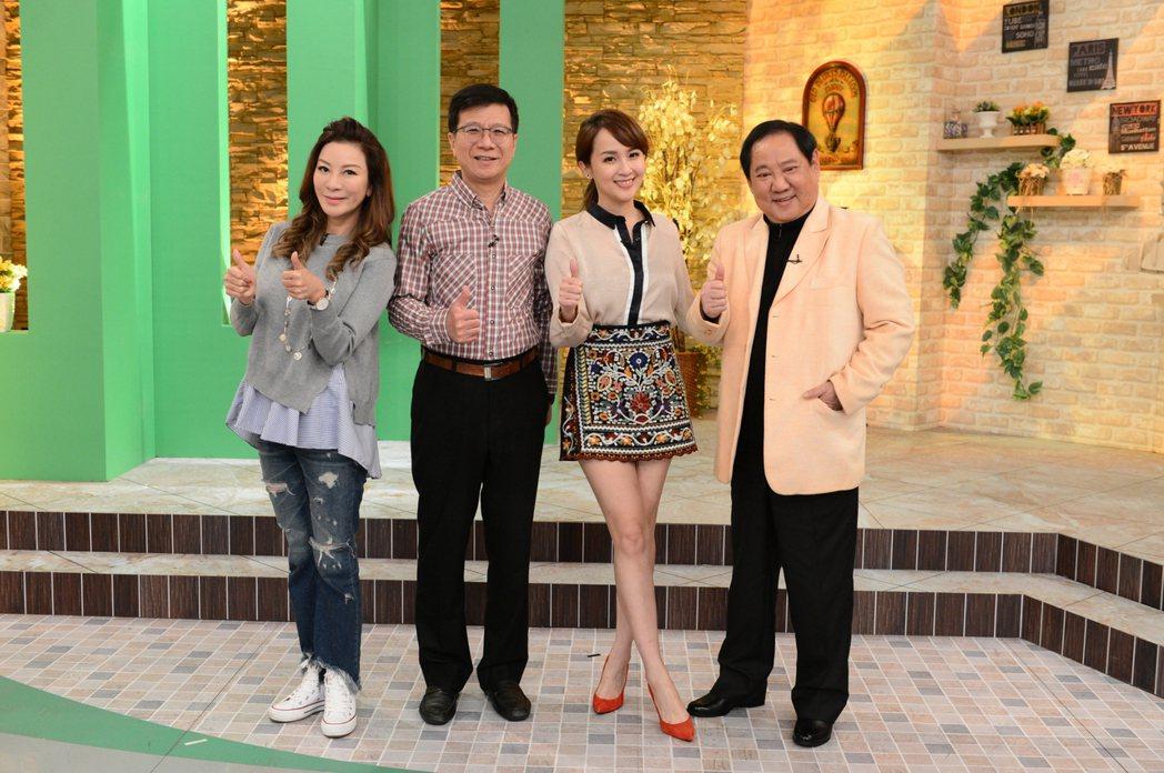 馬如龍(右)和楊繡惠(左)上八大「健康NO.1」。圖/八大提供