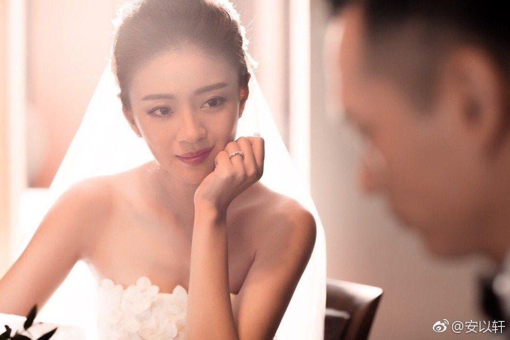 安以軒婚紗照曝光。圖/擷自安以軒微博