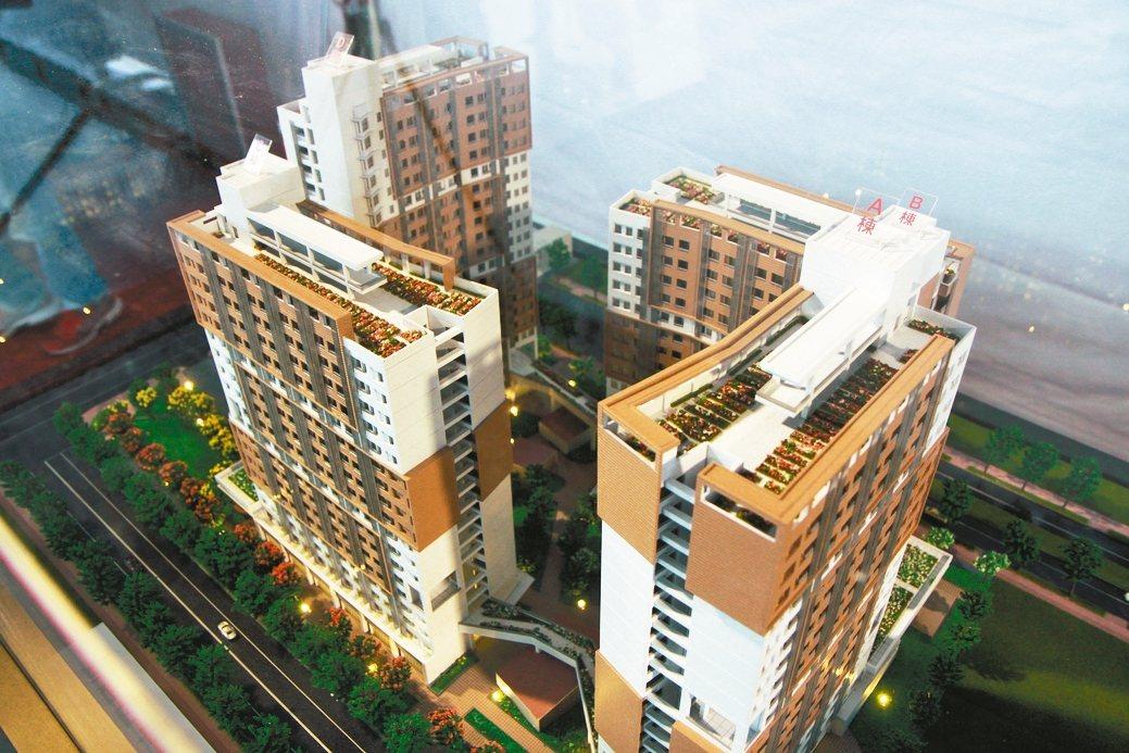 新店中央新村北側青年社會住宅昨動土,圖為社宅模型。 記者王敏旭/攝影