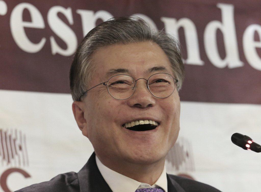 南韓在野黨共同民主黨前黨魁文在寅大選民調保持領先。美聯社