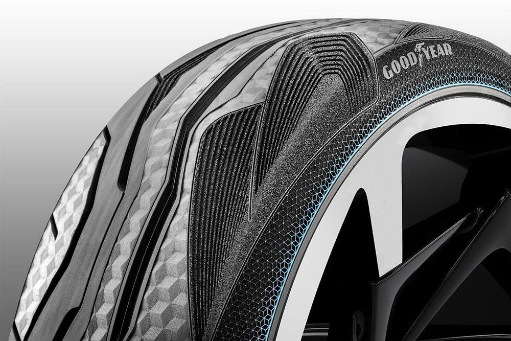 CityCube概念胎擁有先進感應器科技以及獨特胎面花紋設計。 Goodyear固特異輪胎提供