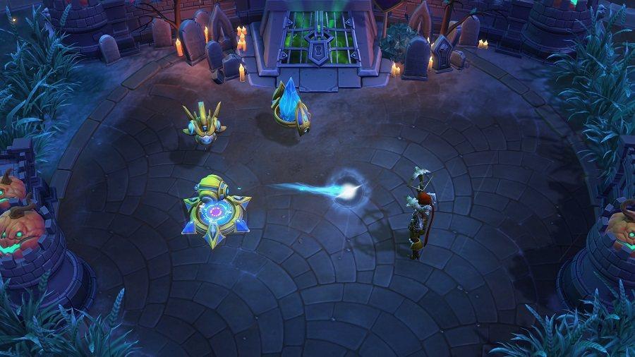 「光子加農砲」必須設置於水晶塔範圍內,將主動攻擊附近敵人。 圖/暴雪提供