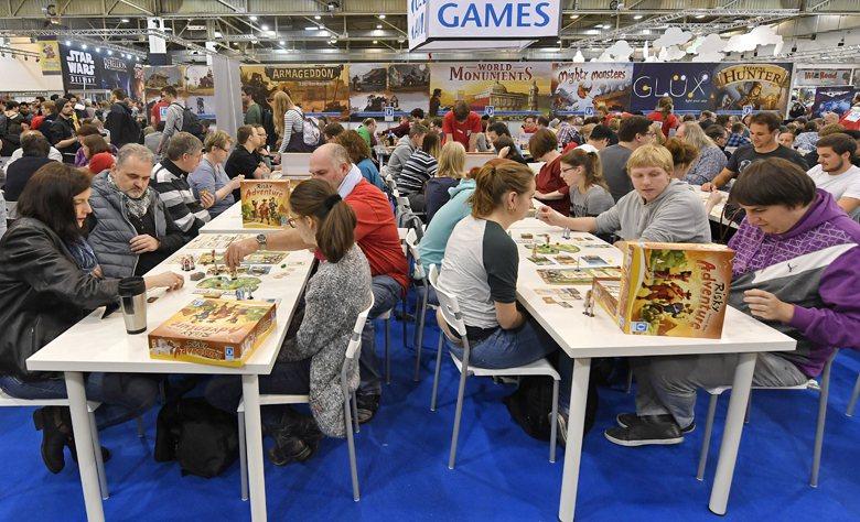 在桌遊起源國德國,意外的發現,桌遊在德國沒有想像中的大眾。圖為2016年德國埃森...