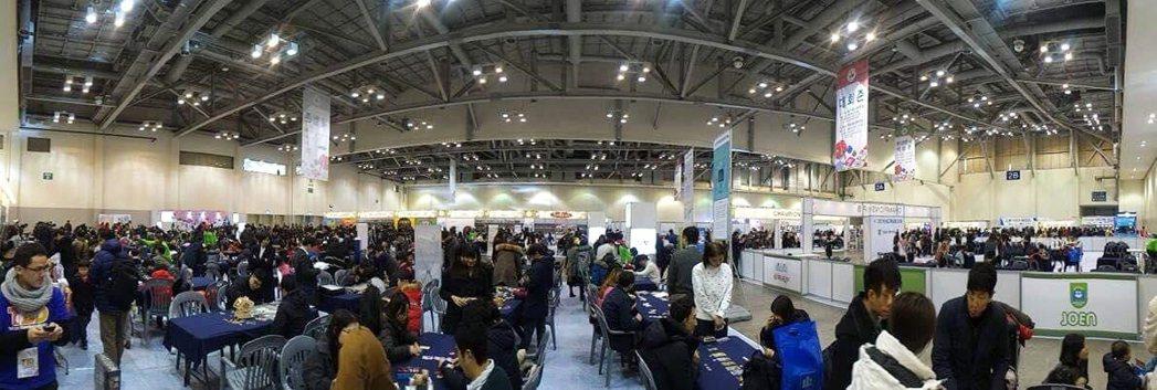 釜山桌遊展,展現韓國政府在文創產業的整合能力。 圖/迷走工作坊