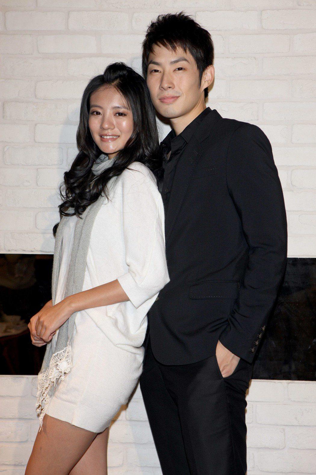 安以軒(左)與吳建豪(右)曾一起合作演出《下一站,幸福》。 圖/聯合報系資料照