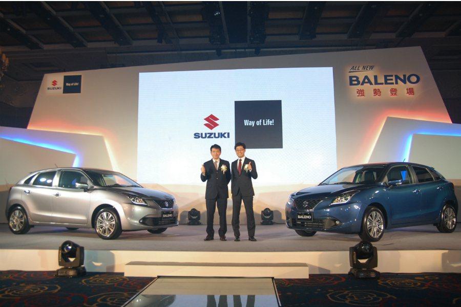 Suzuki 金鈴汽車今(16)日正式發表 Suzuki Baleno,採單一車型販售,正式售價為新台幣 69.8 萬元。 記者林鼎智/攝影