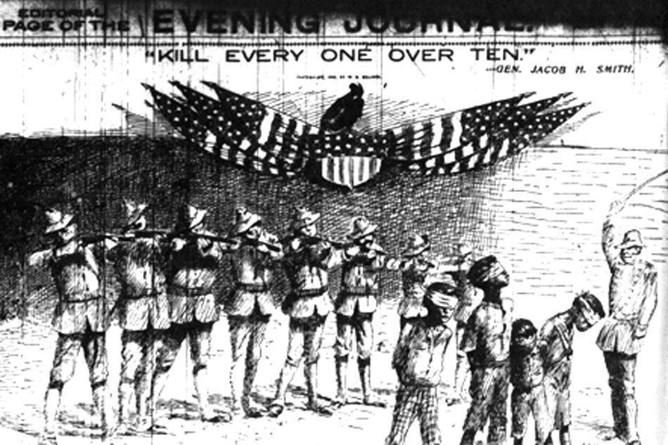 沙馬島上一位美軍將領下令屠殺所有年齡超過10歲的人。 圖/Wikimedia C...