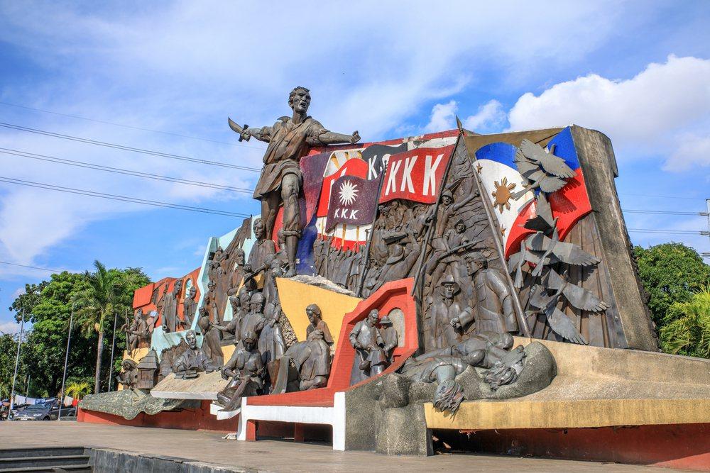 革命社團卡蒂普南向西班牙殖民者展開了武裝鬥爭。圖為卡蒂普南起義紀念碑。 圖/Sh...