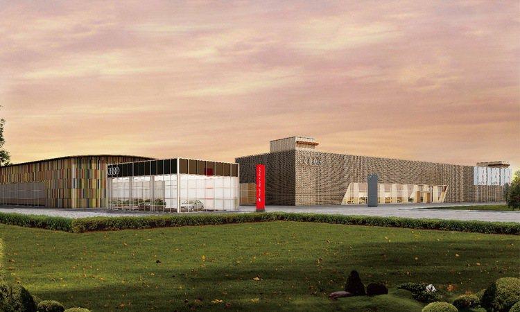 全新Audi台北旗艦中心佔地總面積逾6000坪,整體面積增加4倍,其服務範疇將囊括完善的新車展示中心、維修保養及Audi Approved :plus奧迪嚴選中古車等服務。 圖/台灣奧迪提供