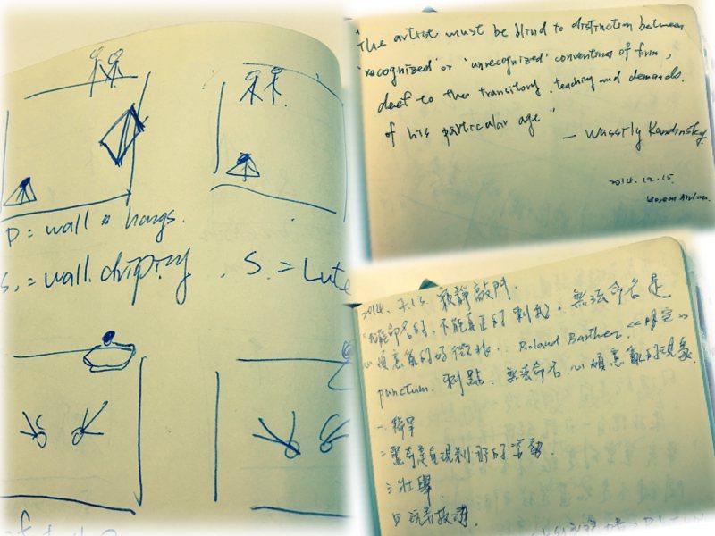 名樺的編舞筆記本。 葉名樺提供