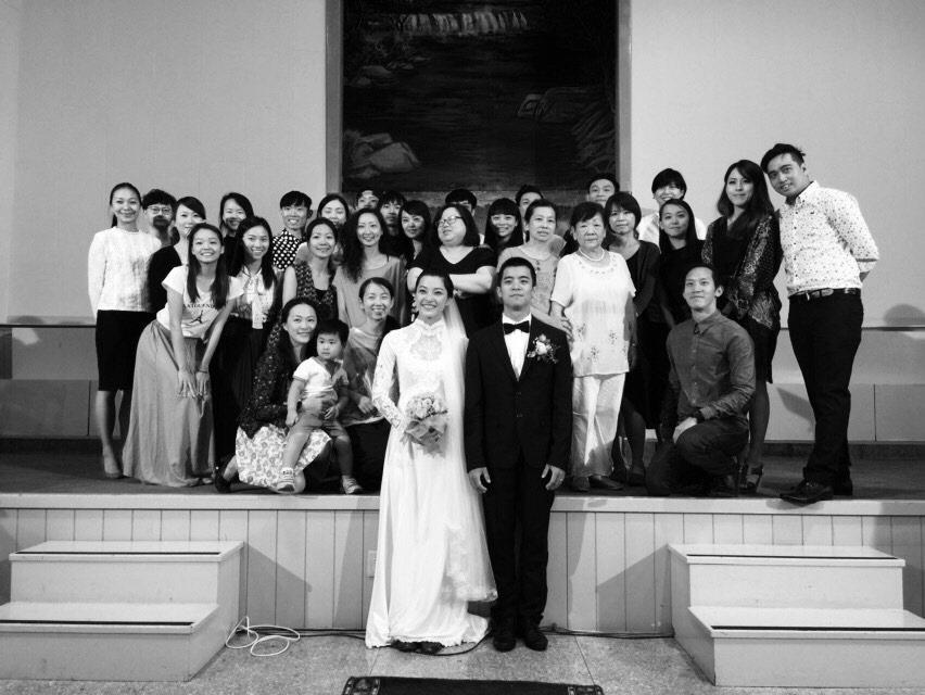 小事製作創團作《生活是甜蜜》的參考照片之一:雲二舞者李尹櫻、王宇光婚禮,攝於20...