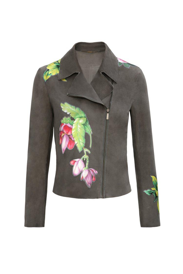 花飾拉鍊外套,68,000元。圖/Blumarine提供